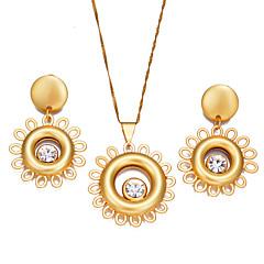 baratos Conjuntos de Bijuteria-Mulheres Conjunto de jóias - Boêmio, Fashion Incluir Brincos em Argola / Colares com Pendentes Dourado Para Festa / Presente