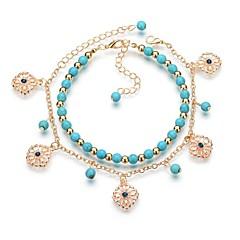 baratos Bijoux de Corps-Fio Único tornozeleira - Resina Flor Na moda, Romântico, Doce Azul Para Presente / Para Noite / Mulheres
