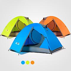 preiswerte Camping, Wandern & Trekking-2 Personen Zelte für Rucksackreisen Doppellagig Stange Camping Zelt Außen Regendicht, Windundurchlässig, UV-beständig für Camping / Wandern / Erkundungen 2000-3000 mm Terylen 210*140*110 cm