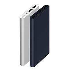 preiswerte Camping, Wandern & Trekking-Xiaomi Original New 10000mAh Energien-Bank Tragbar / Langlebig / Mit Schnellladung 3.0 Schwarz / Silber