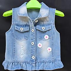 tanie Odzież dla dziewczynek-Brzdąc Dla dziewczynek Podstawowy Jendolity kolor Bez rękawów Tanktop / koszulka na ramiączkach