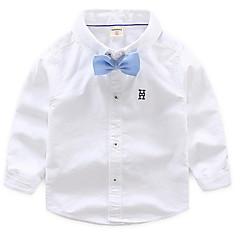 billige Overdele til drenge-Baby Drenge Trykt mønster Langærmet Skjorte