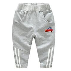 billige Drengebukser-Børn / Baby Drenge Basale Ensfarvet Polyester Bukser Navyblå