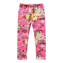 billige Bukser og leggings til piger-Børn / Baby Pige Blomstret / Jacquard Vævning Bukser