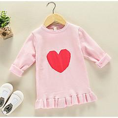billige Sweaters og cardigans til piger-Børn Pige Basale Trykt mønster Langærmet Normal Polyester Trøje og cardigan Grøn