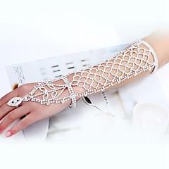 baratos Bijoux de Corps-Longas Bracelete Apanhador de Sonhos Estiloso, Clássico Mulheres Branco Bijuteria de Corpo Para Casamento / Noivado