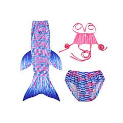 billige Badetøj til piger-Børn Pige Stribet / Farveblok Uden ærmer Badetøj