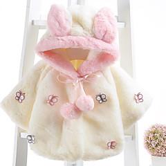 billige Overtøj til babyer-Baby Pige Basale Sommerfugl Patchwork Patchwork Langærmet Bomuld dun- og bomuldsforet