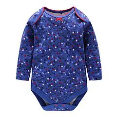 billige Babytøj-Baby Pige Trykt mønster Langærmet Bodysuit