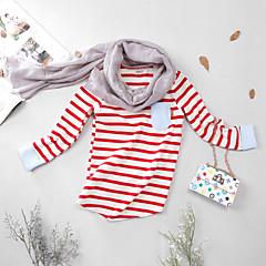 billige Pigetoppe-Børn / Baby Pige Stribet Langærmet T-shirt