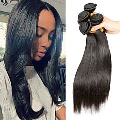 Χαμηλού Κόστους Ρεμί Εξτένσιον από Ανθρώπινη Τρίχα-Remy Τρίχα ύφανση μαλλιά Η καλύτερη ποιότητα / Νέα άφιξη / Hot Πώληση Ίσιο Μαλαισιανή Μεσαίο Μήκος 400 g 1 Χρόνος Καθημερινή Ένδυση / Γαμήλιο Πάρτι / Δέκατα Πέμπτα & Δέκατα Έκτα Γενέθλια
