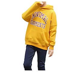 billige Hættetrøjer og sweatshirts til piger-Børn Pige Basale / Gade Sport Trykt mønster Trykt mønster Langærmet Bomuld Hættetrøje og sweatshirt