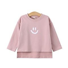 billige Pigetoppe-Børn Pige Trykt mønster Langærmet Bluse