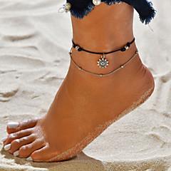 baratos Bijoux de Corps-Camadas tornozeleira - Sol Vintage, Boêmio, Casual / desportivo Preto Para Rua Para Noite Mulheres