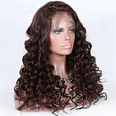 cheap Wigs & Hair Pieces-Virgin Human Hair 360 Frontal Wig Brazilian Hair Curly Wig Deep Parting 150% Women Natural Women's Long Human Hair Lace Wig / Ponytails