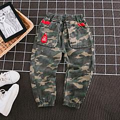 billige Bukser og leggings til piger-Børn Pige Basale Trykt mønster Bomuld / Polyester Bukser Army Grøn 100