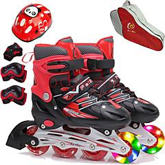 abordables Trottinettes, Skateboards & Rollers-Fille Roller en ligne / Genouillère / Sac à Patins sur Glace Enfant Flash Ajustable, Ventilation ABEC-7 - Rouge, Bleu, Rose
