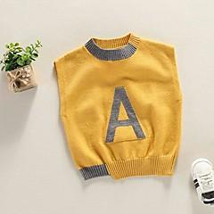 billige Sweaters og cardigans til drenge-Børn Drenge Trykt mønster Uden ærmer Trøje og cardigan