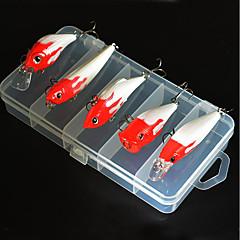 billiga Fiskbeten och flugor-5 pcs Fiskbete Hårt bete / Spigg / Veva Smart / Lätt att använda Sjöfiske / Flugfiske / Kastfiske / Isfiske / Spinnfiske / Jiggfiske / Färskvatten Fiske / Karpfiske