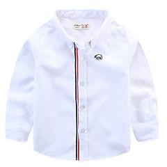 billige Overdele til drenge-Baby Drenge Basale Farveblok Langærmet Skjorte