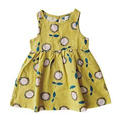 tanie Odzież dla dziewczynek-Brzdąc Dla dziewczynek Stokrotka Kwiaty Bez rękawów Sukienka