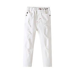 billige Bukser og leggings til piger-Børn / Baby Pige Ensfarvet Jeans