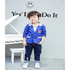 tanie Odzież dla chłopców-Dzieci Dla chłopców Zabytkowe / Podstawowy Wyjściowe Jendolity kolor Długi rękaw Bawełna Komplet odzieży