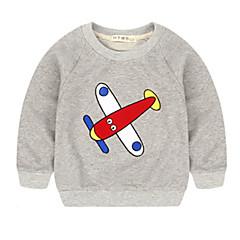 tanie Odzież dla chłopców-Brzdąc Dla chłopców Podstawowy Codzienny Nadruk Długi rękaw Regularny Poliester Bluzy Niebieski 100