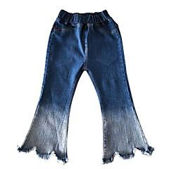 billige Jeans til piger-Børn Pige Basale Ensfarvet Jeans