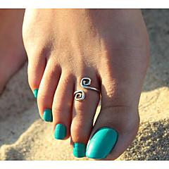 billige Kropssmykker-Retro / Elegant Toe Ring Kreativ Geometrisk, Vintage Dame Sølv Kroppsmykker Til Bursdag / Ut på byen