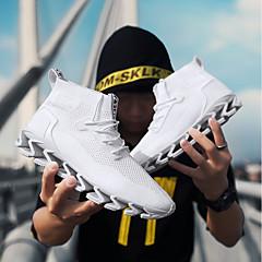 tanie Buty do biegania-Męskie Adidasy Poliuretan termoplastyczny Chodzenie / Bieganie / Jogging Anti-Shake, Ultra lekki (UL), Oddychalność Siateczka Biały / Czarny / Czerwony