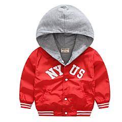 billige Jakker og frakker til drenge-Børn Drenge Geometrisk / Farveblok Langærmet Jakke og frakke