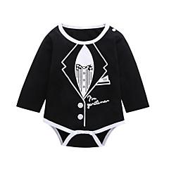 billige Babytøj-Baby Pige Aktiv / Basale I-byen-tøj Trykt mønster Langærmet Bomuld Bodysuit