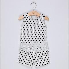 billige Tøjsæt til piger-Børn Pige Prikker Uden ærmer Tøjsæt
