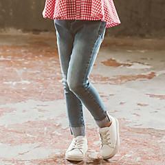 billige Jeans til piger-Børn Pige Gade I-byen-tøj Patchwork Patchwork Jeans