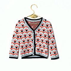 billige Sweaters og cardigans til babyer-Baby Pige Blomstret Langærmet Trøje og cardigan