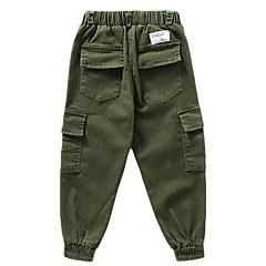 tanie Odzież dla chłopców-Dzieci Dla chłopców Podstawowy Solidne kolory Bawełna Spodnie