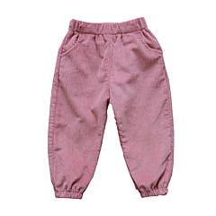 billige Babyunderdele-Baby Pige Vintage Ensfarvet Bukser