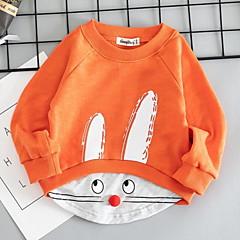 billige Hættetrøjer og sweatshirts til piger-Børn Pige Farveblok Langærmet Hættetrøje og sweatshirt