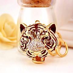 baratos Chaveiros-Tiger Chaveiro Dourado Irregular, Animal Imitações de Diamante, Liga Decorada com Pedrarias / Strass, Fashion Para Aniversário / Presente