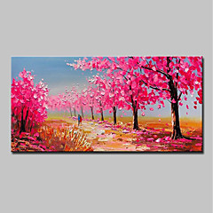 cheap -Mintura® Hand Painted Tree Landscape Oil Painting On Canvas Modern Abstract Wall Art Picture For Home Decoration Ready To Hang