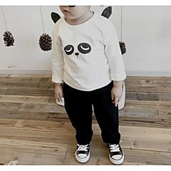 baratos Roupas de Meninos-Infantil Para Meninos Sólido / Estampa Colorida Manga Longa Camiseta
