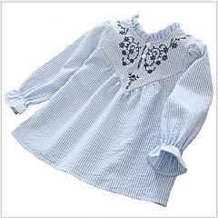 billige Pigetoppe-Børn Pige Trykt mønster Langærmet Skjorte