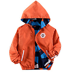 billige Jakker og frakker til drenge-Børn Drenge Basale Geometrisk Langærmet Bomuld Jakke og frakke