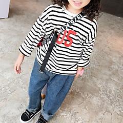 billige Pigetoppe-Børn / Baby Pige Stribet / Geometrisk Langærmet T-shirt