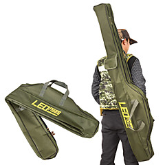 billige Fiskegrejer Kasser-leo folding fiskestang poser fiskeposer 420d glidelåse fiskespole verktøy oppbevaringspose tilfelle holder utstyr takle pesca 100cm / 150cm