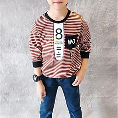 billige Hættetrøjer og sweatshirts til drenge-Børn Drenge Stribet / Trykt mønster Langærmet Hættetrøje og sweatshirt