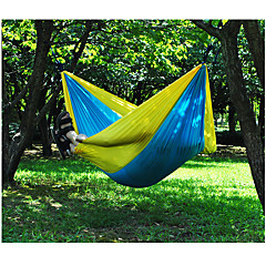 cheap Camping Furniture-Camping Hammock Outdoor Portable, Moistureproof, Well-ventilated Nylon for 2 person Hunting / Fishing / Hiking - Green+Gray, Blue+Pink, Rose Pink / Blue