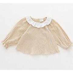 billige Babyoverdele-Baby Pige Stribet Langærmet Skjorte