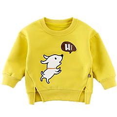 billige Sweaters og cardigans til babyer-Baby Pige Basale Ensfarvet / Trykt mønster Langærmet Trøje og cardigan